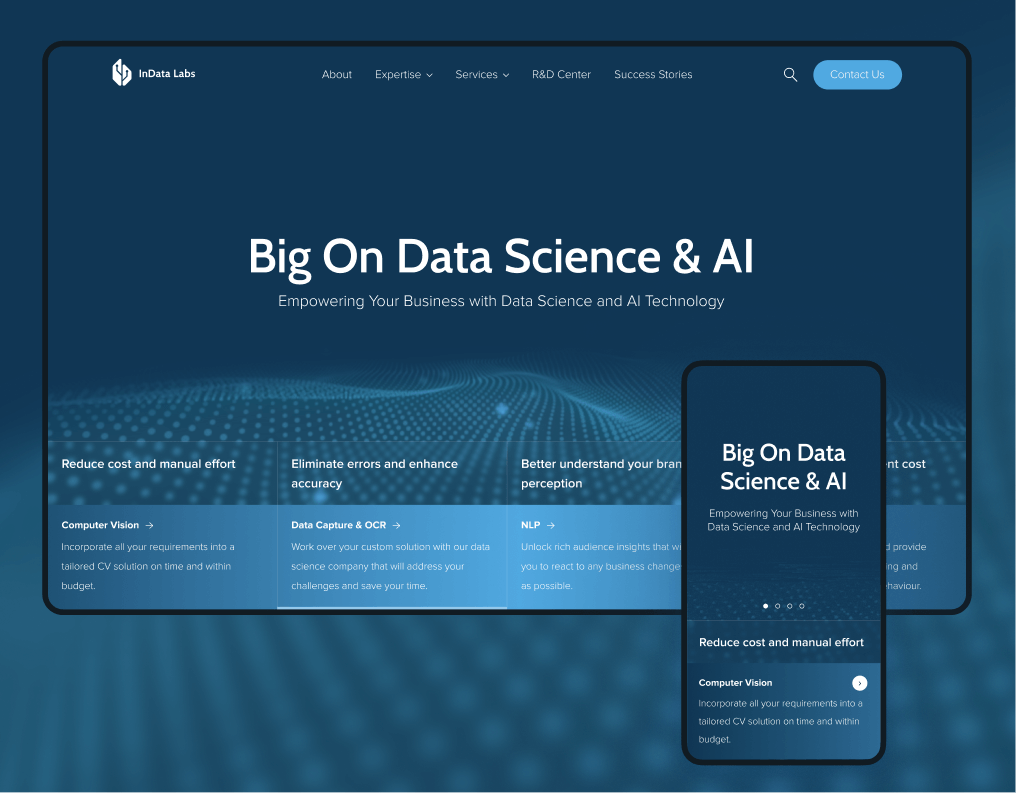 B2B Website for Data Science company